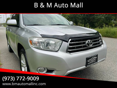 2010 Toyota Highlander for sale at B & M Auto Mall in Clifton NJ