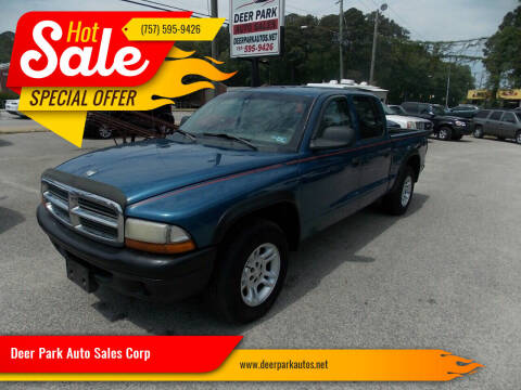 2003 Dodge Dakota for sale at Deer Park Auto Sales Corp in Newport News VA