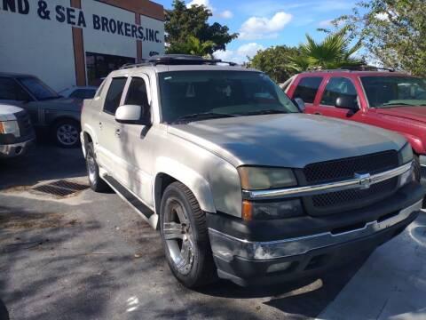 2006 Chevrolet Avalanche for sale at LAND & SEA BROKERS INC in Pompano Beach FL
