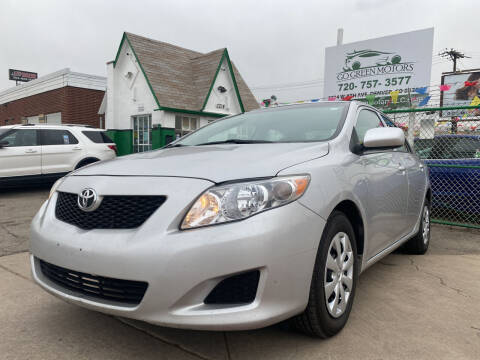 2010 Toyota Corolla for sale at GO GREEN MOTORS in Denver CO