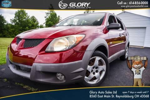 2003 Pontiac Vibe for sale at Glory Auto Sales LTD in Reynoldsburg OH