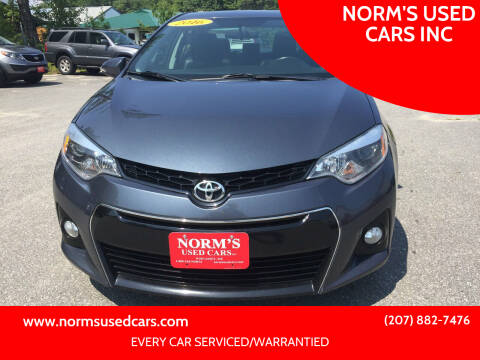 2016 Toyota Corolla for sale at NORM'S USED CARS INC in Wiscasset ME