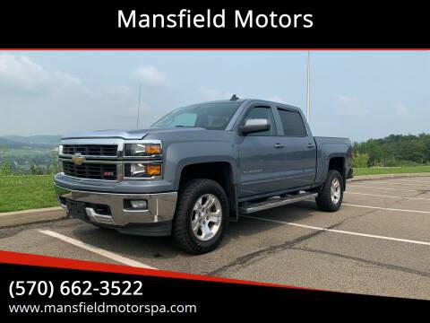 2015 Chevrolet Silverado 1500 for sale at Mansfield Motors in Mansfield PA