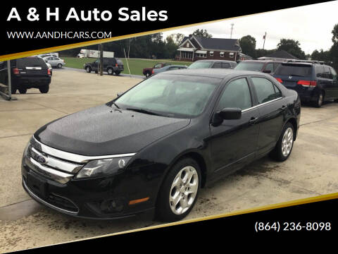 2010 Ford Fusion for sale at A & H Auto Sales in Greenville SC