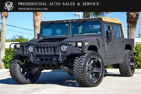 2001 AM General Hummer for sale at Presidential Auto  Sales & Service in Delray Beach FL