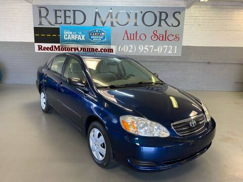 2007 Toyota Corolla for sale at REED MOTORS LLC in Phoenix AZ