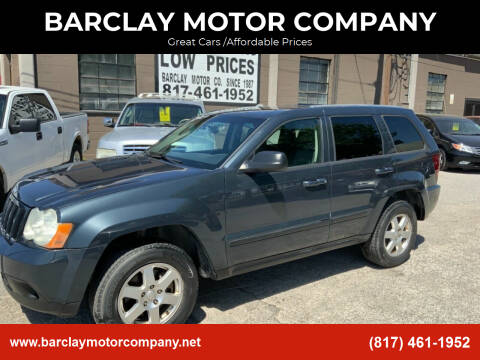 2008 Jeep Grand Cherokee for sale at BARCLAY MOTOR COMPANY in Arlington TX