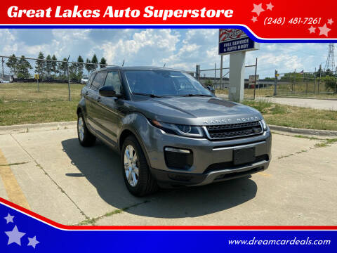 2017 Land Rover Range Rover Evoque for sale at Great Lakes Auto Superstore in Pontiac MI