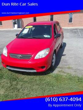 2007 Toyota Matrix for sale at Dun Rite Car Sales in Downingtown PA