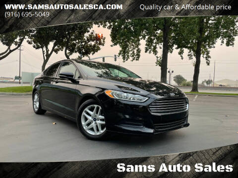 2016 Ford Fusion for sale at Sams Auto Sales in North Highlands CA