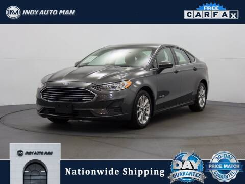 2019 Ford Fusion Hybrid for sale at INDY AUTO MAN in Indianapolis IN