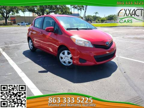 2012 Toyota Yaris for sale at Exxact Cars in Lakeland FL