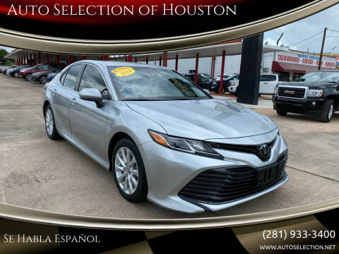 2018 Toyota Camry for sale at Auto Selection of Houston in Houston TX