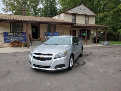 2013 Chevrolet Malibu for sale at BIG #1 INC in Brownstown MI
