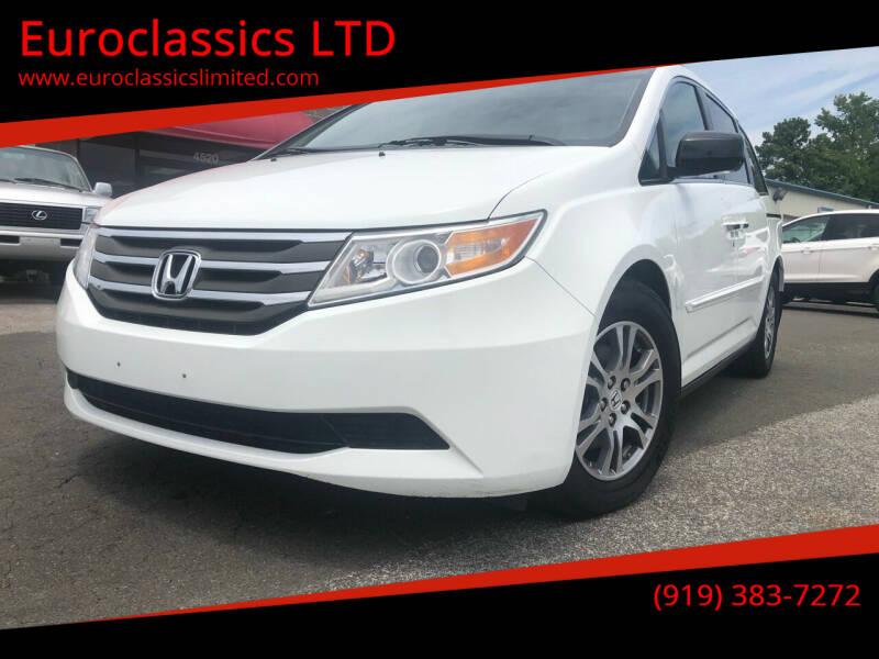 2011 Honda Odyssey for sale at Euroclassics LTD in Durham NC