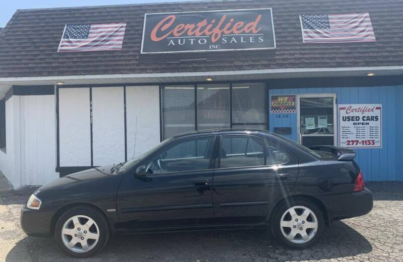 2006 Nissan Sentra for sale at Certified Auto Sales, Inc in Lorain OH