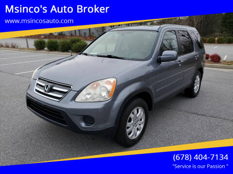 2005 Honda CR-V for sale at Msinco's Auto Broker in Snellville GA