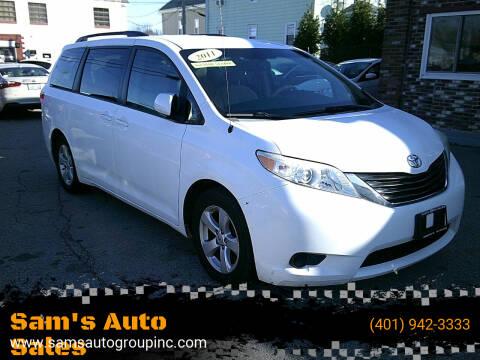 2011 Toyota Sienna for sale at Sam's Auto Sales in Cranston RI
