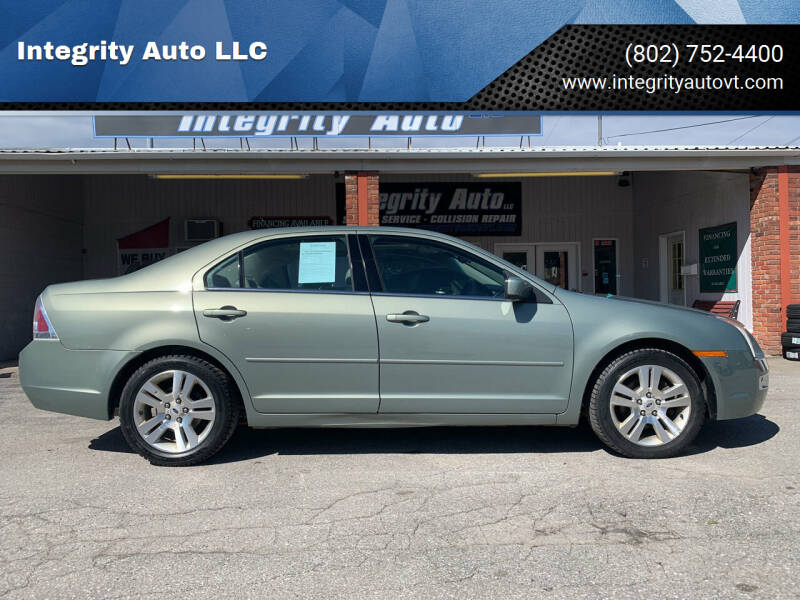 2008 Ford Fusion for sale at Integrity Auto LLC - Integrity Auto 2.0 in St. Albans VT