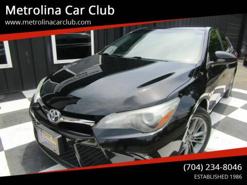 2016 Toyota Camry for sale at Metrolina Car Club in Matthews NC