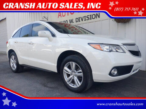 2015 Acura RDX for sale at CRANSH AUTO SALES, INC in Arlington TX