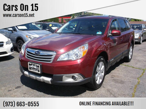 2011 Subaru Outback for sale at Cars On 15 in Lake Hopatcong NJ
