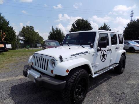 2012 Jeep Wrangler Unlimited for sale at PERUVIAN MOTORS SALES in Warrenton VA