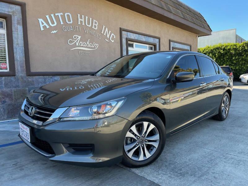 2013 Honda Accord for sale at Auto Hub, Inc. in Anaheim CA