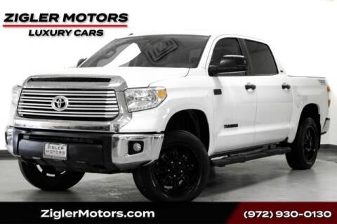 2015 Toyota Tundra for sale at Zigler Motors in Addison TX