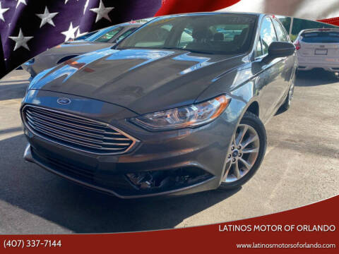 2017 Ford Fusion for sale at LATINOS MOTOR OF ORLANDO in Orlando FL