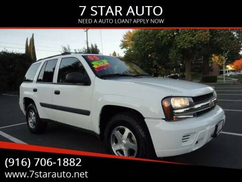2005 Chevrolet TrailBlazer for sale at 7 STAR AUTO in Sacramento CA