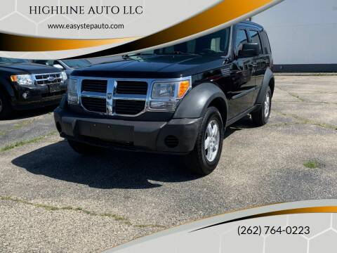2007 Dodge Nitro for sale at HIGHLINE AUTO LLC in Kenosha WI