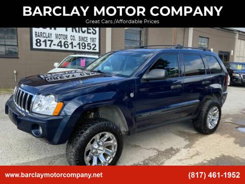 2006 Jeep Grand Cherokee for sale at BARCLAY MOTOR COMPANY in Arlington TX