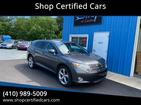 2009 Toyota Venza for sale at Shop Certified Cars in Easton MD