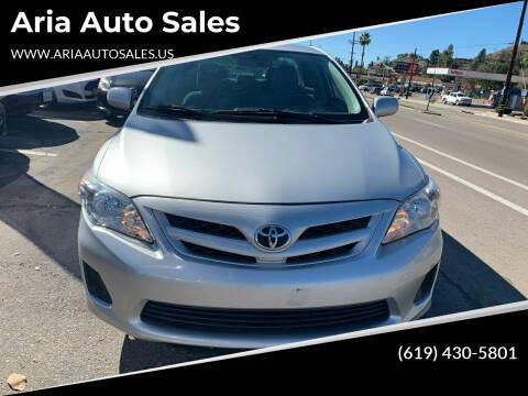 2011 Toyota Corolla for sale at Aria Auto Sales in El Cajon CA