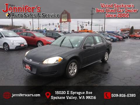 2013 Chevrolet Impala for sale at Jennifer's Auto Sales in Spokane Valley WA