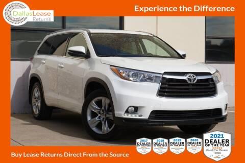 2015 Toyota Highlander for sale at Dallas Auto Finance in Dallas TX