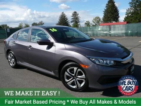 2016 Honda Civic for sale at Shamrock Motors in East Windsor CT