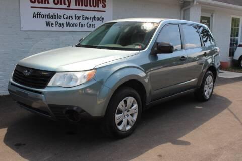 2010 Subaru Forester for sale at Oak City Motors in Garner NC