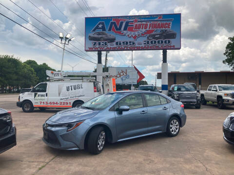 2020 Toyota Corolla for sale at ANF AUTO FINANCE in Houston TX