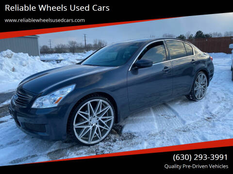 2009 Infiniti G37 Sedan for sale at Reliable Wheels Used Cars in West Chicago IL