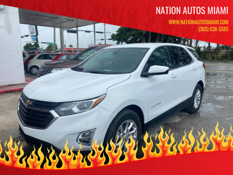 2020 Chevrolet Equinox for sale at Nation Autos Miami in Hialeah FL
