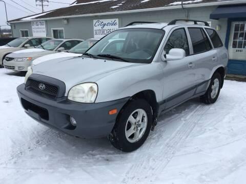 2002 Hyundai Santa Fe for sale at CITYSIDE MOTORCARS LLC in Canfield OH