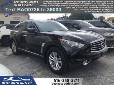 2015 Infiniti QX70 for sale at Best Auto Outlet in Floral Park NY