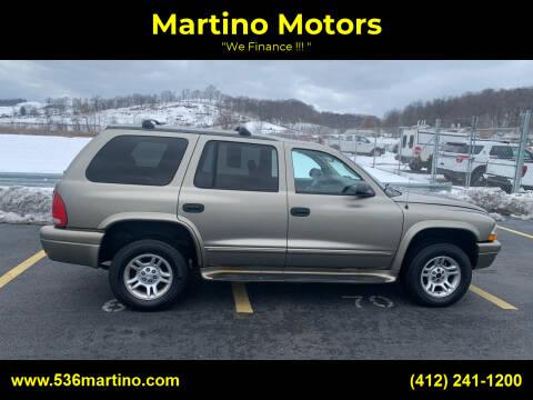 2003 Dodge Durango for sale at Martino Motors in Pittsburgh PA
