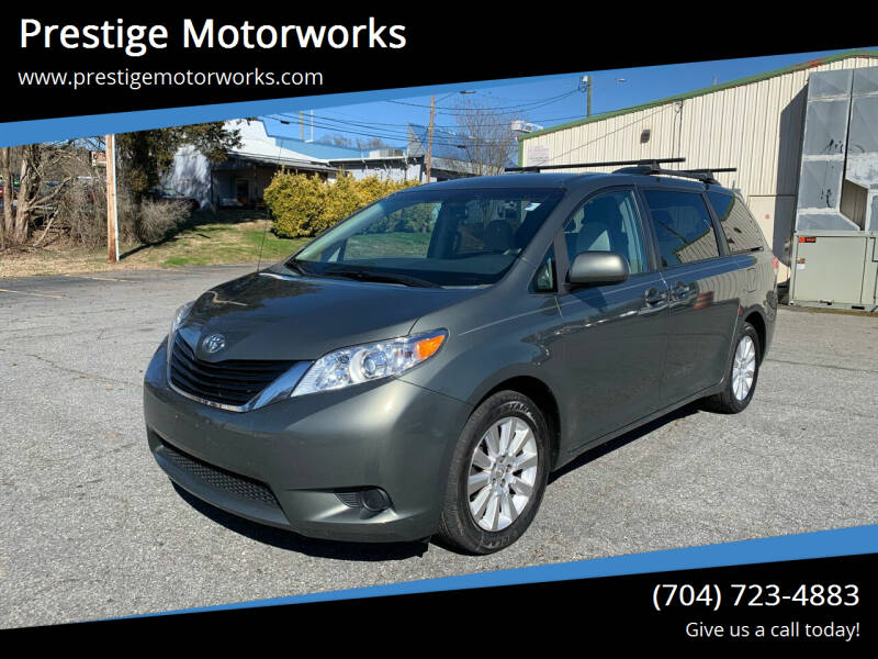2014 Toyota Sienna for sale at Prestige Motorworks in Concord NC