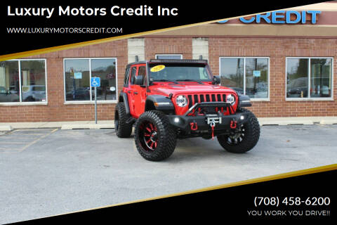 2020 Jeep Wrangler Unlimited for sale at Luxury Motors Credit Inc in Bridgeview IL