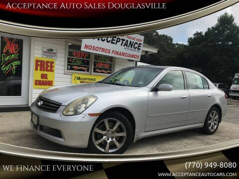 2006 Infiniti G35 for sale at Acceptance Auto Sales Douglasville in Douglasville GA