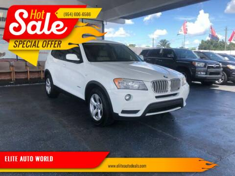 2011 BMW X3 for sale at ELITE AUTO WORLD in Fort Lauderdale FL