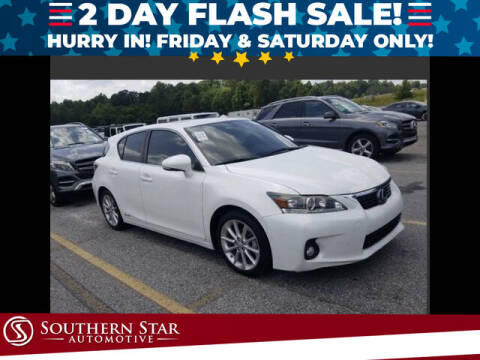 2012 Lexus CT 200h for sale at Southern Star Automotive, Inc. in Duluth GA